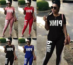 Women Short Sleeve Pants Sport Jumpsuit Bodysuits Outfits Tr