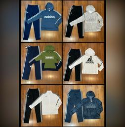 adidas Youth Boy's Track Set Tracksuit Hoodie Pants Size 10/
